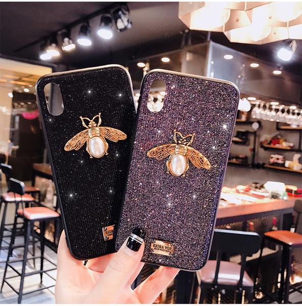coque de téléphone iphoneX iphone8 tide marque flash poudre abeille 7plus tout inclus 6 étui de protection en silicone