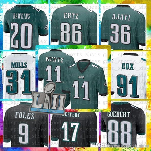 db6be303 2019 Top Sale 11 Carson Wentz Philadelphia Eagles Jersey 17 Alshon Jeffery  91 Fletcher Cox 30 Corey Clement 36 Jay Ajayi 88 Dallas Goedert Jersey From  ...