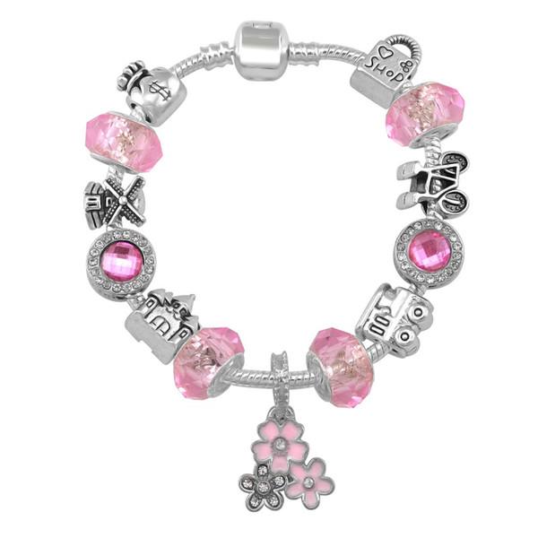 2019 New Design Travel Style Pandora Bracelets For Women Fashion Shopping Bead Bracelet Diy Jewelry With Gift Bag 18 19 20 21CM