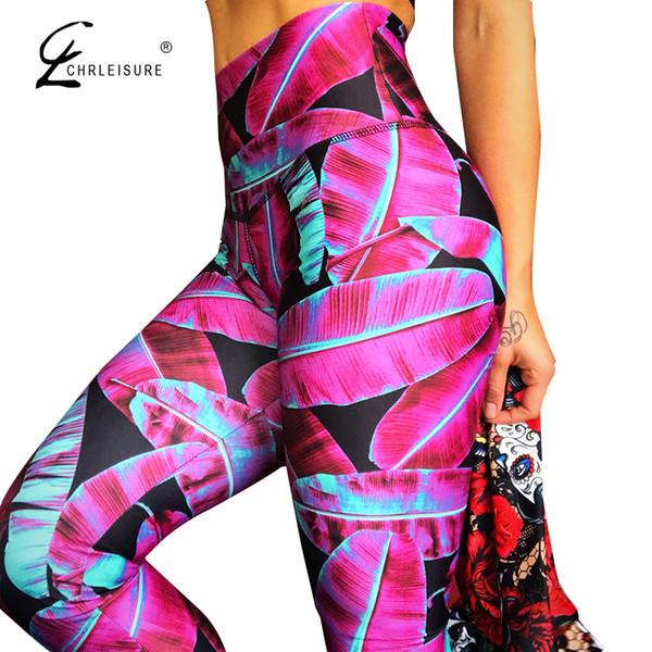 Chrleisure Women High Waist Leggings Push Up Jeegings Female Workout Leggings Feminina Digital Frinted Leggings C19041001