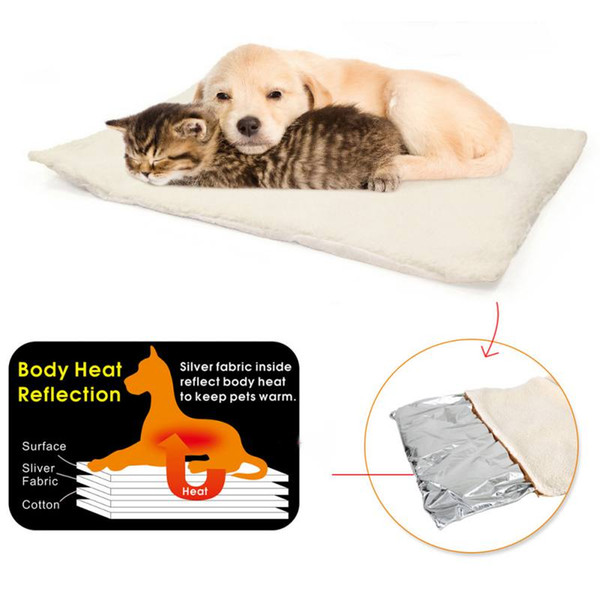 2019 New Pet Dogs Selbsterhitzungsmatten Puppy Winter Warm Bed House Nest Pads Haustier Hundezubehör Zwinger Matten nicht verstopfen