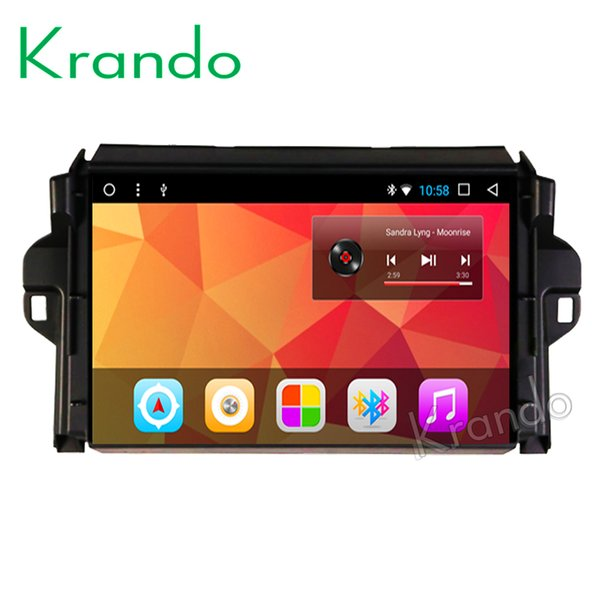 "Krando Android 8.1 7"" IPS Full touch Big Screen car Multmedia system for TOYOTA Fortuner 2016 audio player gps navigation wifi car dvd"