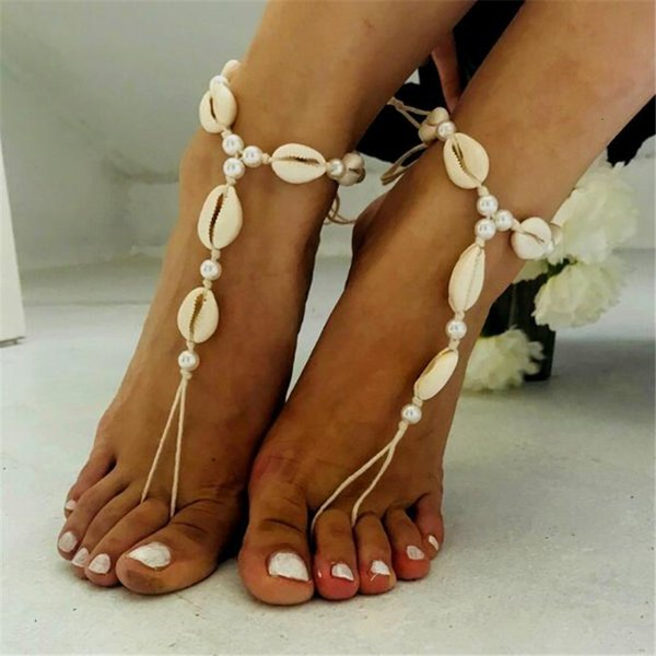 Accessories Popular Natural Shell Anklet Woman Sandy Beach Weave Foot Ornaments pearl earrings, piercing,Pandora charms,summer sundress women,shell jewelry,abalone shell jewelry,sea shell jewelry,shell jewelry set,shell jewelry diy,cowrie shell jewelry,conch shell jewelry,women shell jewelry sets