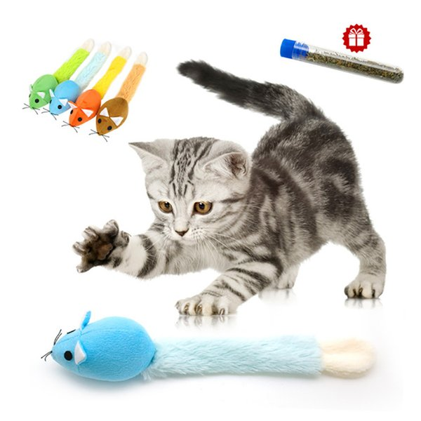 pet cat toy interactive cats catnip toys long tail mouse toy scratch playing training toys catnip for kitten pet supplies