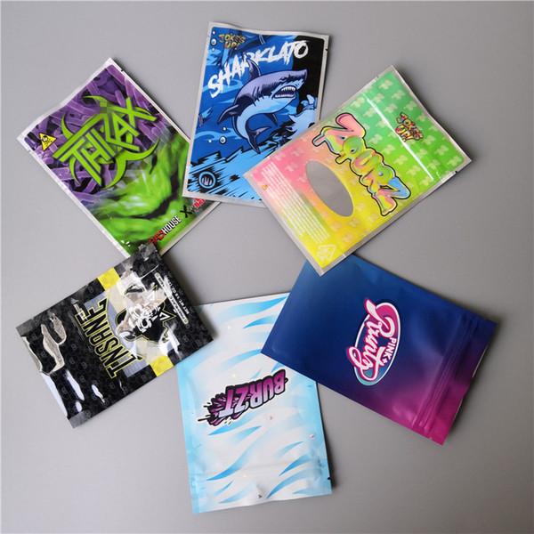 best selling RUNTZ JOKER UP INSANE BAG 3.5g ZOURZ SHARKLATO BURZT THKAX Smell Proof Bags Vape Packaging for Dry Herb Vaporizer with 6kinds mylar bag