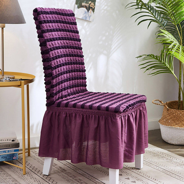 Bubble Lattice Elastic Chair Covers Spandex Chair Covers For Kitchen/Dining Room Office Chair Cover With Back