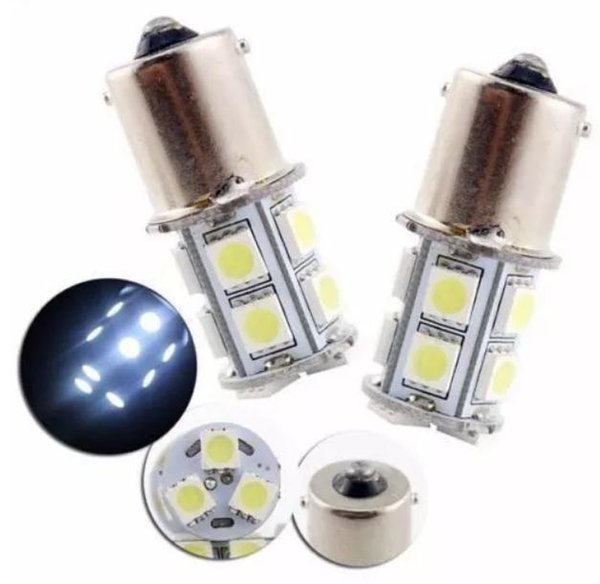 Bulbos reversos brancos S25 / BA15S-13SMD5050-3chips do diodo emissor de luz do apoio 360 ° do xénon que substituem para a luz de freio do carro Reboque de campista Lâmpada interna do diodo emissor de luz