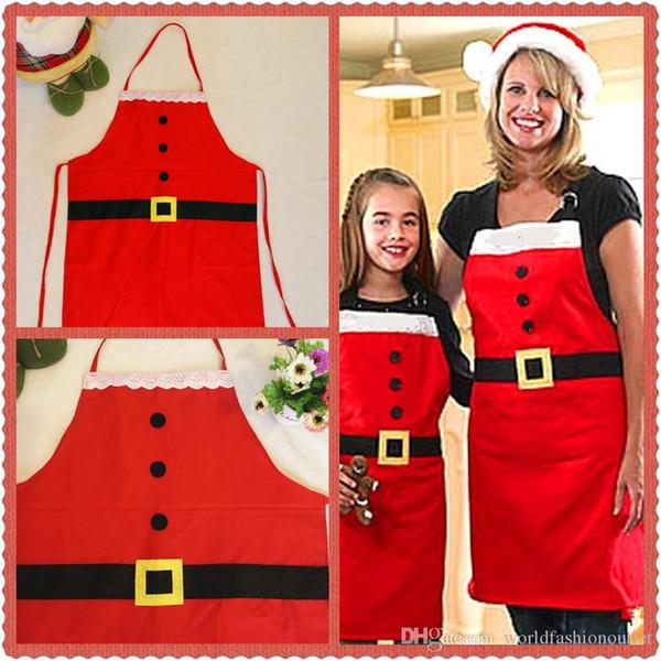 Nuovo grembiule Decorazioni natalizie Xmas Day Forniture natalizie famiglia Attività natalizie Santa Cena Cucina Grembiuli Drop Ship