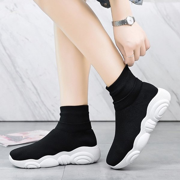 official photos new list store Shoes Women Sneakers Chaussure Femme Breathable Socks Slip On Basket Flats  Footwear Tenis Feminino Casual Couple Shoes #9278 Mens Sandals Dress Shoes  ...