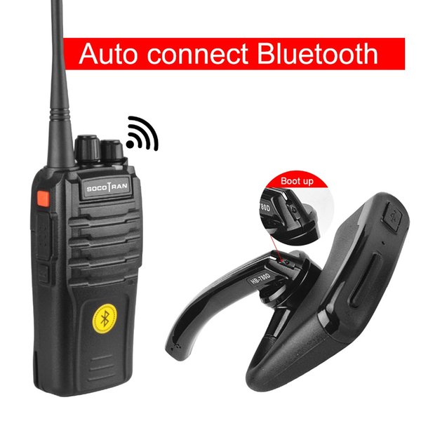 SocoTran Bluetooth Walkie Talkie VOX Protable UHF 400 480MHz Two Way Radio  Woki Toki With Wireless Bluetooth Headset Radio Best 2 Way Radios Bluetooth
