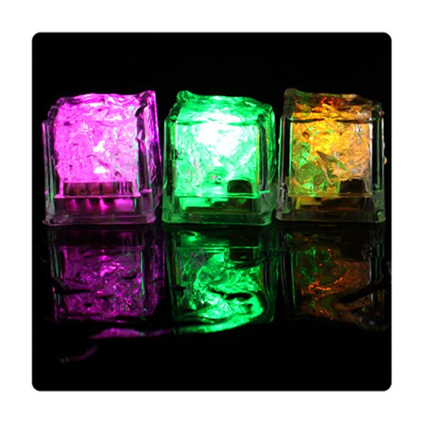 Ice Cubes Light Party Decor DIY LED Flash Novelty Drink Cup Sensor Colorful Glowing Square Lamp Bar Club Wedding