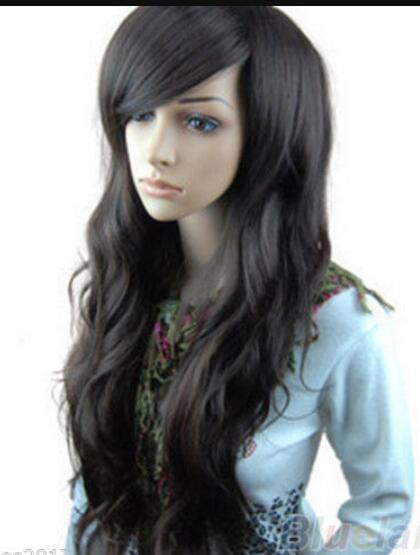 WIG LL ZCD NEW STYLE Free >>>fashion Women's ladies sexy long black wavy full wigs