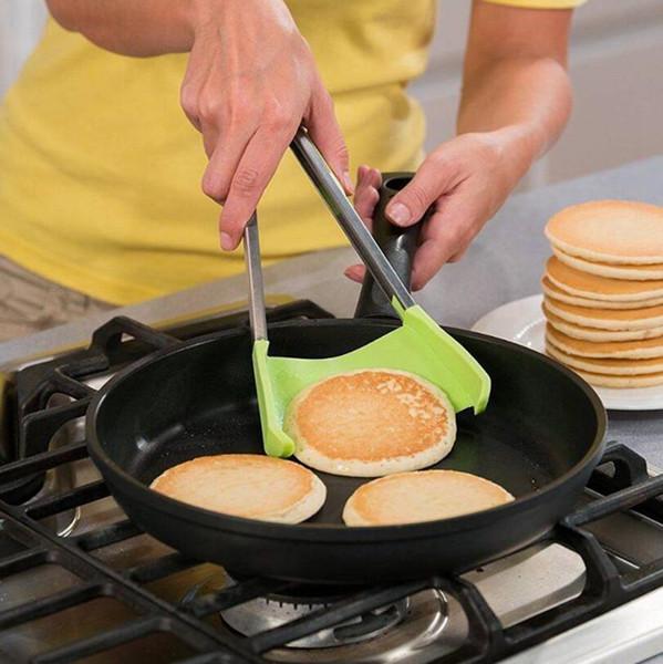 9-дюймовый кухонный шпатель щипцы с антипригарным покрытием из нержавеющей стали Ultimate 2-в-1 силиконовые щипцы кухонный гаджет 100 шт.
