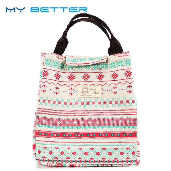 Cute Animal Whale Portable Insulated Canvas Lunch Bag Thermal Food Picnic for Women Kids Men Cooler Lunch Box Bag Tote D19010902