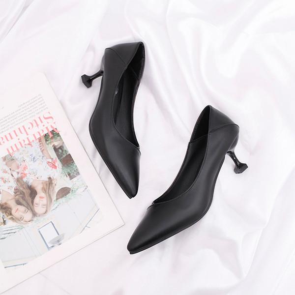 Xiniu Женщины Насосы Extrem Fashion Pumps Средние каблуки с одной обуви Остроконечная Голова повседневная обувь на высоких каблуках Женщины # 0501
