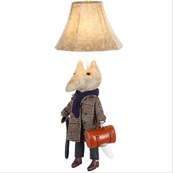 Lampe de table pour enfants avec lampe de bureau LED Cute Fox Funny Animal et cadeau fait main aux enfants