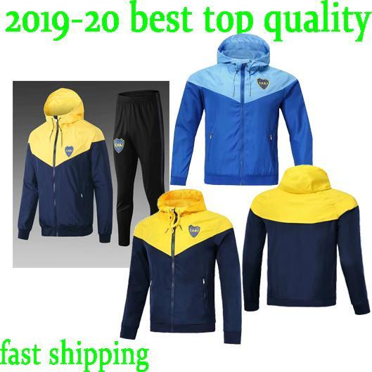 Thai 18 19 Boca Juniors windbreaker ROSSI PEREZ soccer Tracksuit GAGO TEVEZ jacket 2018 2019 CARDONA chandal training hoodie sports wear