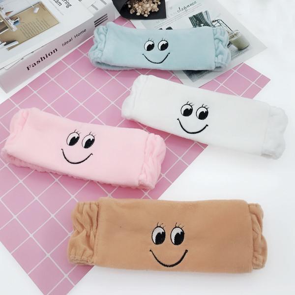 6 colores Invierno nueva sonrisa linda banda para el cabello lavar la cara lavar la venda máscara yoga deportes hairbands accesorios para el cabello