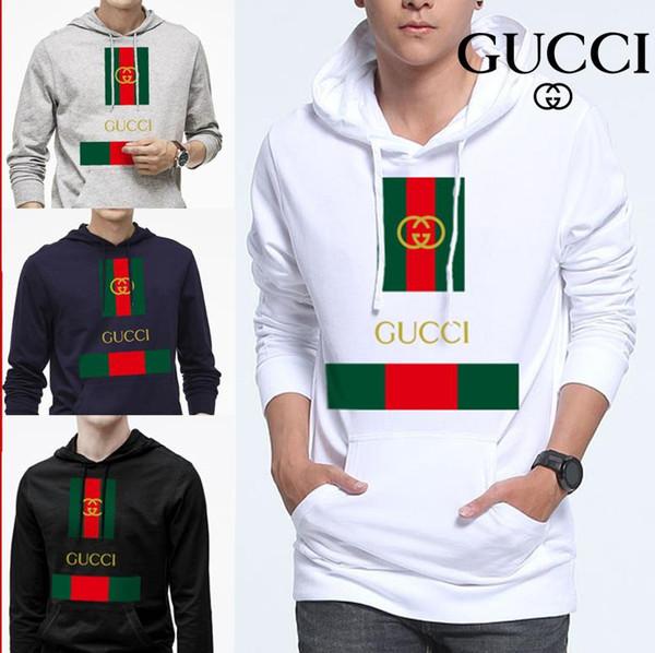 Men de igner hoodie print letter pullover women long leeve ca ual 13 gucci weat hirt cotton loo e port weater fa hion clothe, Black