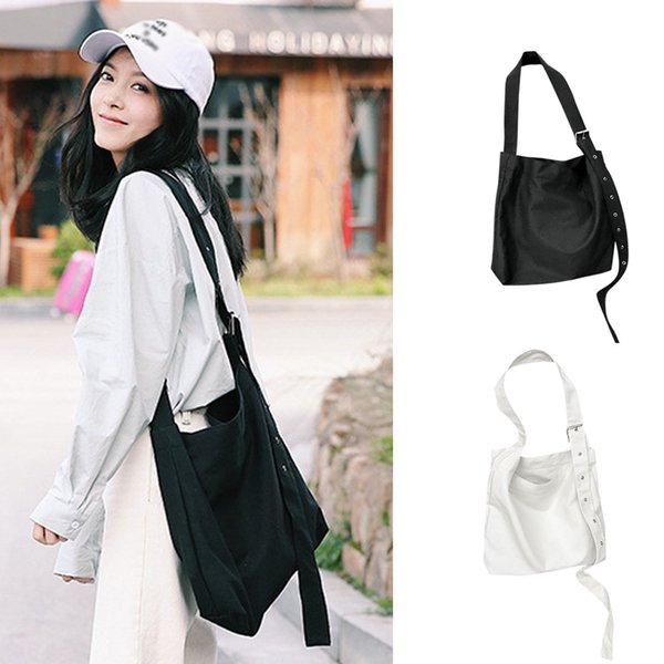 kkmhan brand fashion girls solid color canvas art versatile shoulder bag messenger bag dropshipping bolsas feminina - from $47.36
