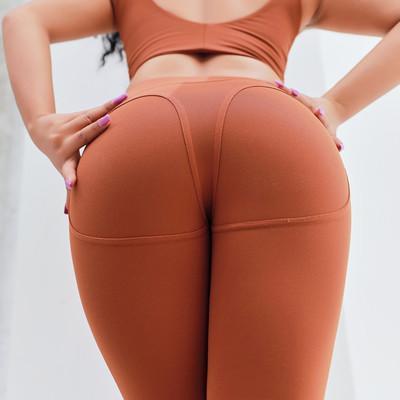 Mulheres Marca Leggings 2019 Primavera Nova Moda Cor Sólida Calças de Yoga Ocasional Jogging Leggings Tummy Hip Calças de Fitness Tamanho Asiático ATACADO