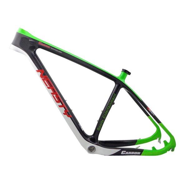 뜨거운 판매 29inch 탄소 섬유 산악 자전거 랙 진짜 탄소 자전거 액세서리 제조 업체 선물로 녹색 그림 프레임 bunche을 제공합니다