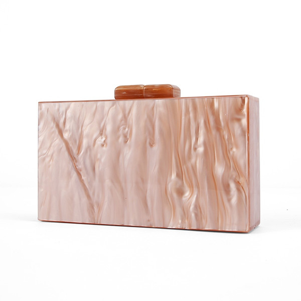 Pearl Nude Brush Acrylic Purse Box Clutch Luxury Handbags Women Bgas Designer Messenger Beach Travel Summer Acrylic Hand Bags #112460