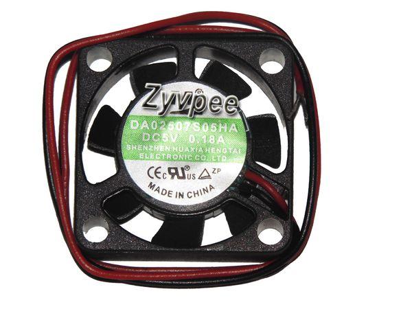 YM 25*07mm DA02507S05HA 5V 0.18A 2 Wires Cooling Fan 25mm case fan,mini cooler for mini devices