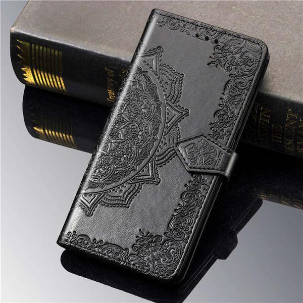 casse del telefono del progettista per Sony XZ3 XA3 L3 XZ5 Xperia 10 PLUS 20 del basamento di vibrazione MANDALA Portafoglio in pelle titolare caso della carta
