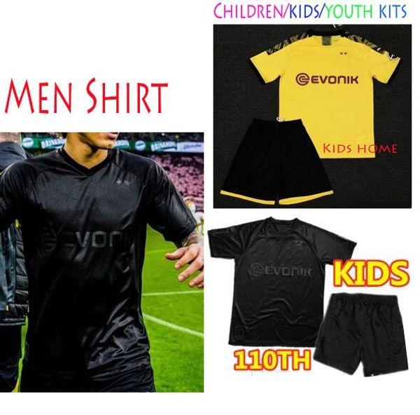 New Borussia Dortmund Blackout 2019 2020 Reus 100th Anniversary Kit Soccer Jerseys Men Shirt Kids Children Set Black Yellow Buy At The Price Of 11 51 In Dhgate Com Imall Com