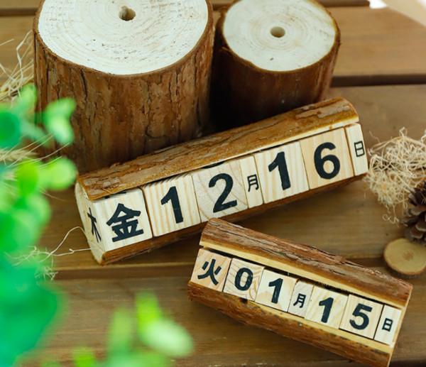 top popular Manufacturers special zakka creative manual wooden calendar display countdown wooden calendar decorative crafts 2020