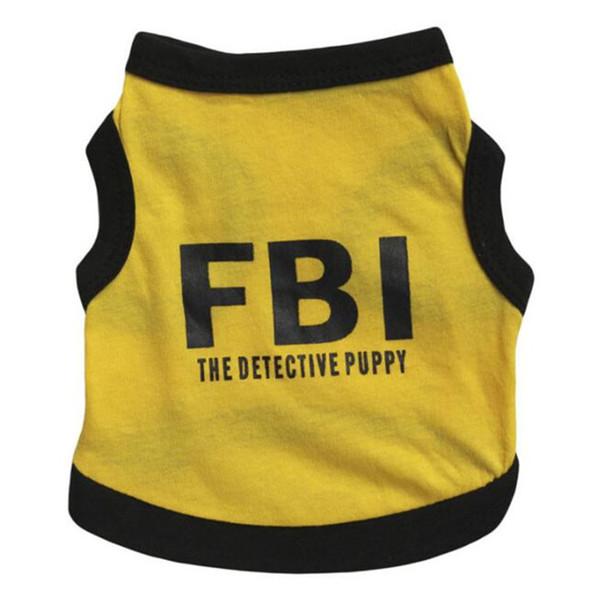 Designed FBI Printed Dog Shirt Spring Summer Dog Clothes New Small Dog t shirt Cotton Clothing Chihuahua Coat
