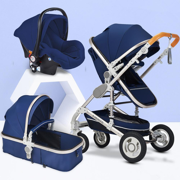 Blue with carseat