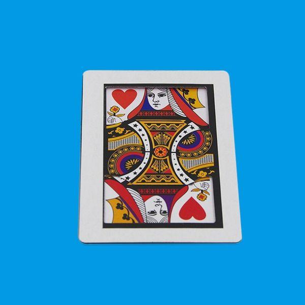 Автоматическая Трёхкарточный (Poker Size, 8.8x6.4cm) Крисс K в Q Card Magia Close Up Gimmick реквизита Аксессуары Fun YH1921