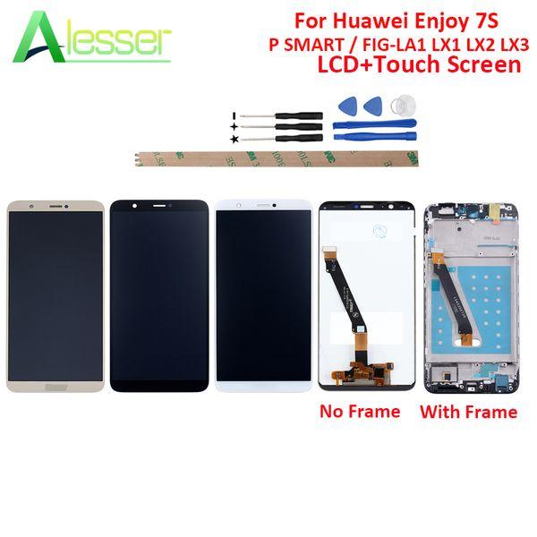 Alesser Pour Huawei Profitez 7P LCD P SMART LCD FIG-LA1 LX1 LX2 Écran Tactile Ecran Tactile + Cadre Assemblage Réparation Pièce De Rechange Avec Outil
