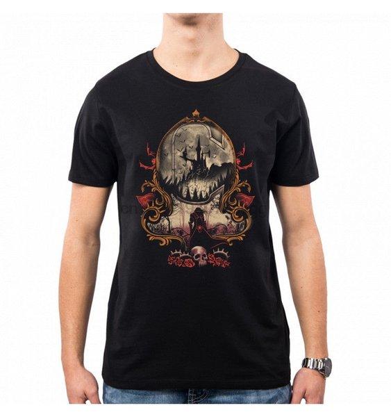 T-SHIRT UOMO VAMPIRI KILLER CASTLEVANIA VT0128A PACDESIGN estate nuovo di marca uomini della maglietta di Hip Hop T-shirt casual