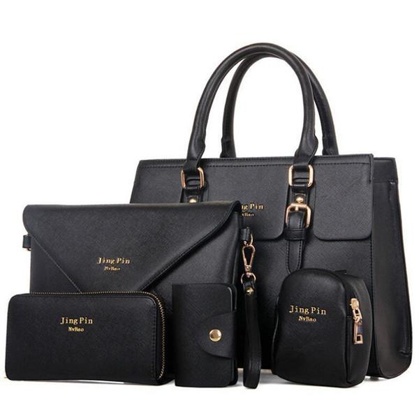 Wholesale- Nice New 5 Pcs Women Handbags Set Famous Brand Designer PU Women Bag Set Good Quality Shoulder Bag Women Bags MU77