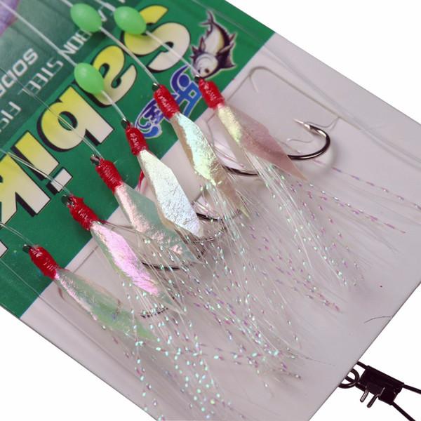 Sabiki Köder Rigs Salzwasser Süßwasser Fischköder Fischhaut Angel RigSS/_!