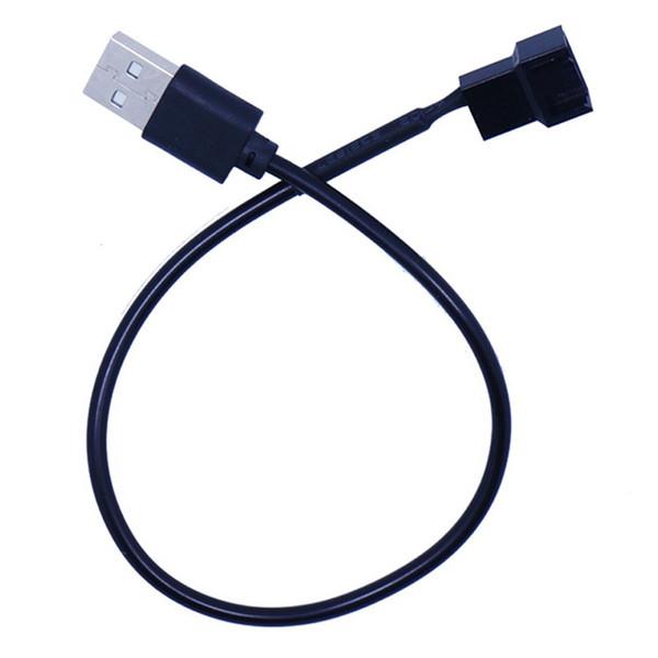 30 centimetri a 3 pin o ventilatore a 4 pin a cavi adattatore USB 3/4 Pin Computer PC Fan Connettore cavo adattatore 5V Collegare
