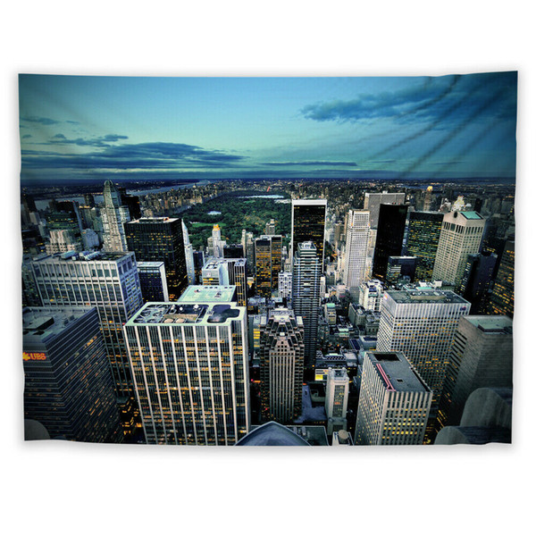 Modern City Wall Hanging Tapestry Psychedelic Bedroom Home Decoration