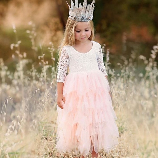 Girls Summer Dress 2019 Brand Backless Teenage Party Unicorn Princess Dress Children Costume for Kids Clothes Pink 2-8T