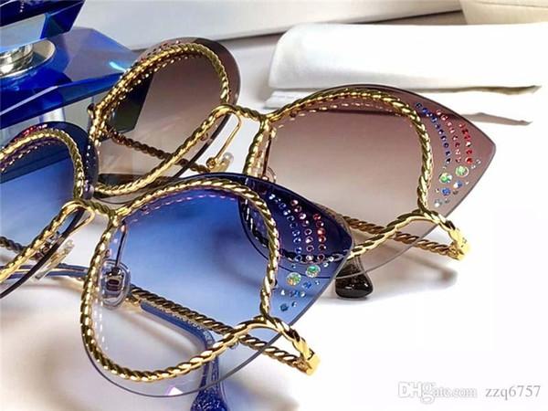 Nouvelle mode femmes lunettes de soleil 58 cadre plaque charme cadre oeil de chat style design avant-gardiste qualité supérieure protection uv lunettes
