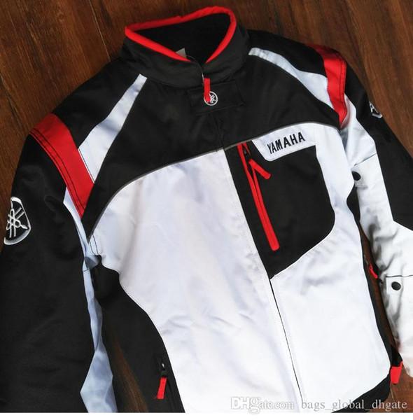 YAMAHA Free суперобложка Беговой куртка Утолщенного зима ветрозащитный Держите тепло Новеньких трикотажных изделий Мото Велоспорта Zipper патч вышивку