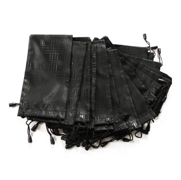 wholesale 1000 pcs/lot Glasses Case Soft Waterproof Plaid Cloth Sunglasses Bag Glasses Pouch Black Color Free shipping