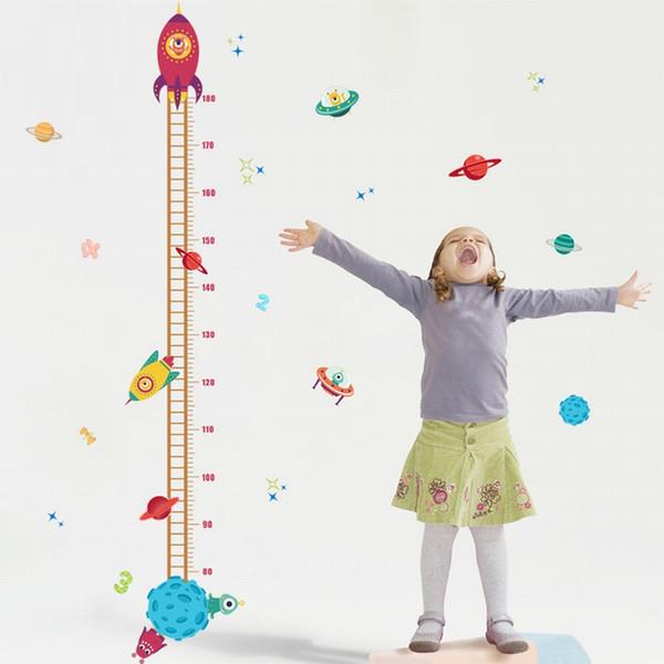 Medida de altura Papel pintado Etiqueta de la pared para la habitación de los niños Tabla de crecimiento del bebé Decoración del hogar Vivero Tatuajes de pared Arte Animal