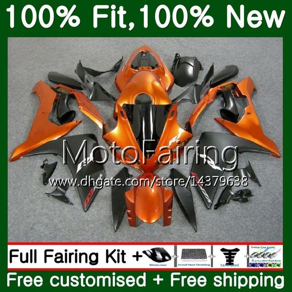 Cuerpo de inyección para YAMAHA YZF R 1 YZF 1000 YZFR1 07 08 98MF14 YZF R1 07 YZF1000 YZF-1000 YZF-R1 2007 2008 Naranja Negro Carenado Carenado