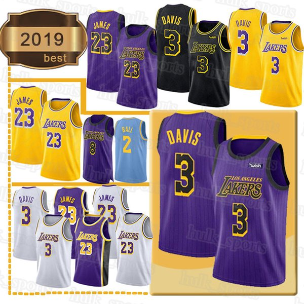 Los Angeles James Laker Davis Jersey Bryant LeBron Kobe Anthony Ingram Kuzma Kuzma 2019 top basketball jerseys
