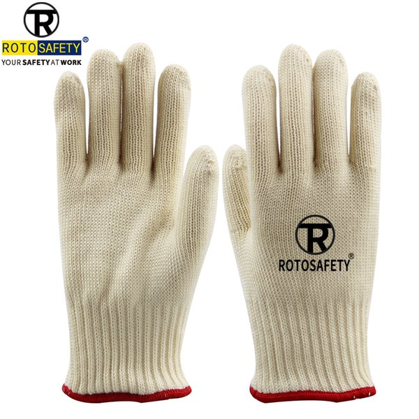 Double Knit Gloves Cut Resistant Gloves Aramid Flame Heat Resistant Oven Gloves,1 Pair