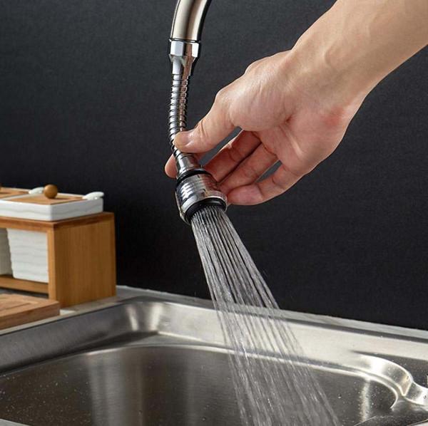 Kitchen Plumbing & Fittings Faucet Head Extender Stainless Steel Filter  360° Flexible Sink Faucet Sprayer Kitchen Taps