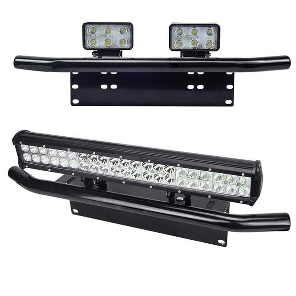 Aleación de aluminio negro Tipo de barra auxiliar Coche Parachoques Matrícula Placa de trabajo Soporte de soporte de lámpara para SUV Tronco de coche